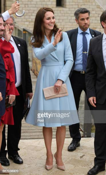 Catherine, Duchess of Cambridge visits the Drai Eechelen Museum during a one day visit on May 11, 2017 in Luxembourg. The Duchess will attend a...
