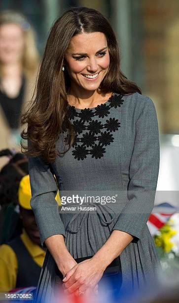 Catherine Duchess of Cambridge visits the Dulwich Picture Gallery on March 15 2012 in London England The Duchess of Cambridge joined her parentsinlaw...