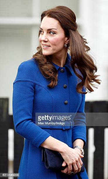 Catherine, Duchess of Cambridge visits the Early Years Parenting Unit of the Anna Freud Centre on January 11, 2017 in London, England.