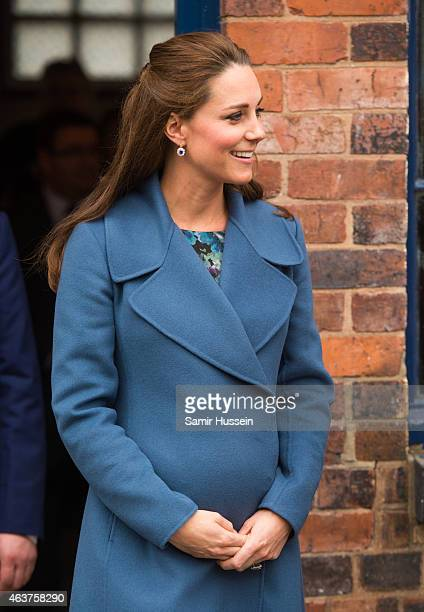 Catherine, Duchess of Cambridge visits the Emma Bridgewater Factory on February 18, 2015 in Stoke on Trent, England.