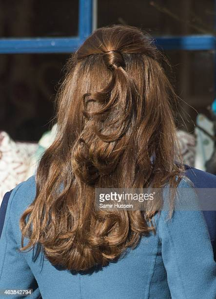 Catherine Duchess of Cambridge visits the Emma Bridgewater Factory on February 18 2015 in Stoke on Trent England