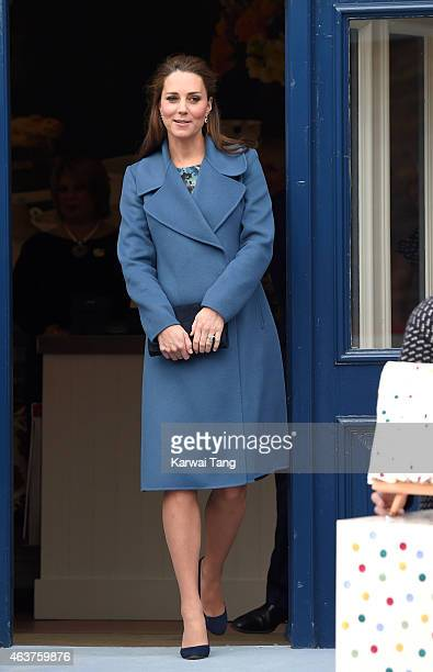 Catherine, Duchess of Cambridge visits the Emma Bridgewater factory to see production of a mug the company has launched in support of East Anglia's...