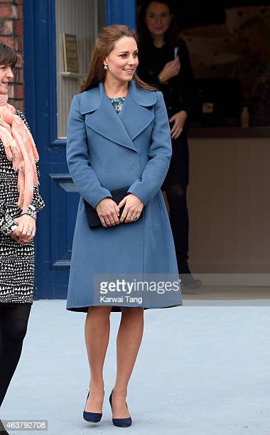 Catherine Duchess of Cambridge visits the Emma Bridgewater factory to see production of a mug the company has launched in support of East Anglia's...