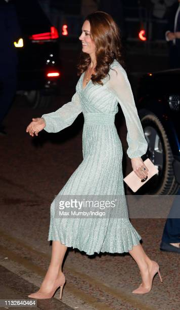 Catherine Duchess of Cambridge visits the Empire Music Hall on February 27 2019 in Belfast Northern Ireland Prince William last visited Belfast in...