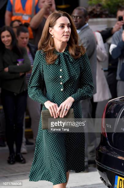 Catherine Duchess of Cambridge visits the Evelina Children's Hospital on December 11 2018 in London England