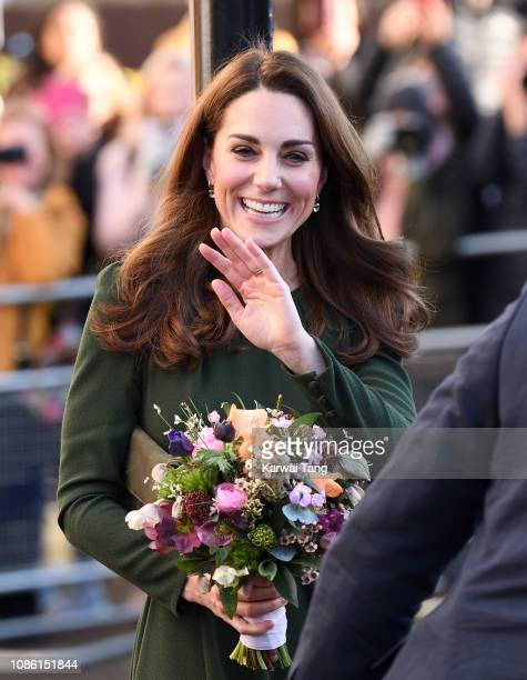 Catherine Duchess of Cambridge visits the Family Action Charity on January 22 2019 in Lewisham England