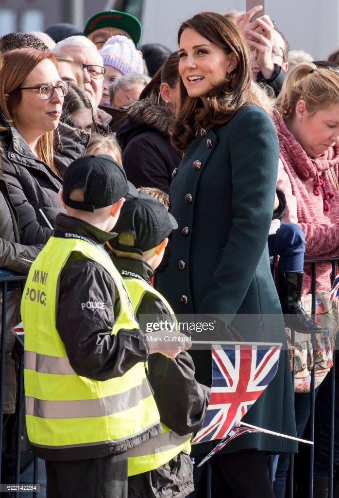 The Duke And Duchess of Cambridge Visit Sunderland : News Photo