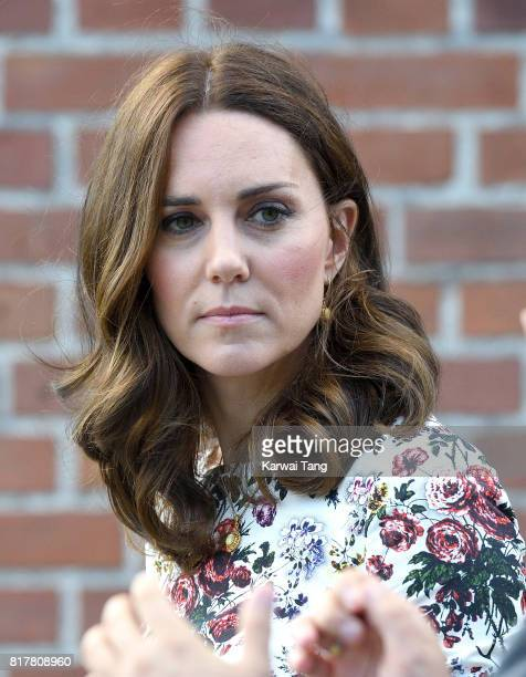 Catherine Duchess of Cambridge visits the former Nazi Germany Concentration Camp during day 2 of their Royal Tour of Poland and Germany on July 18...