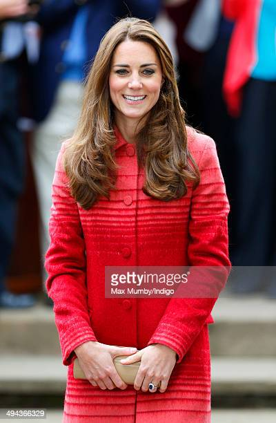 Catherine Duchess of Cambridge visits the Forteviot fete on a day of engagements in Strathearn on May 29 2014 in Forteviot Scotland