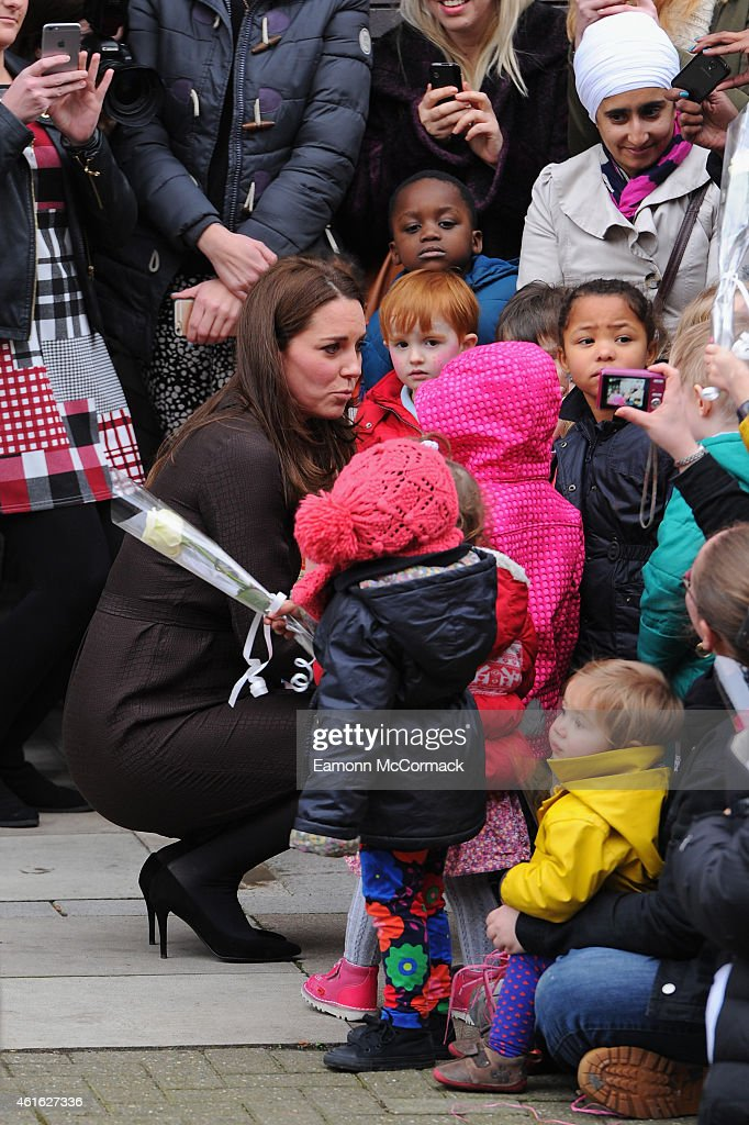 Catherine, Duchess Of Cambridge visits The Fostering Network on January 16, 2015 in London, England.