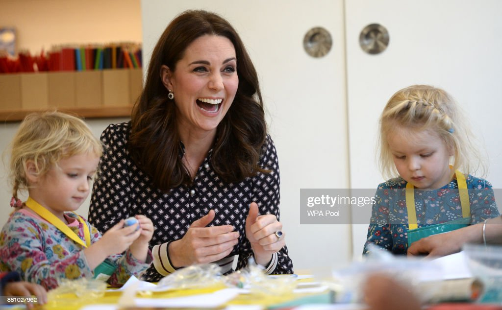Catherine, Duchess of Cambridge, visits the Foundling Museum on November 28, 2017 in London, United Kingdom.
