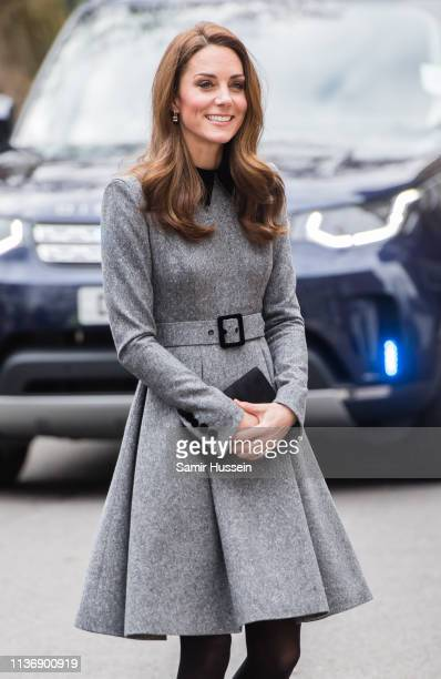 Catherine, Duchess Of Cambridge visits The Foundling Museum on March 19, 2019 in London, England to understand how they use art to make a positive...