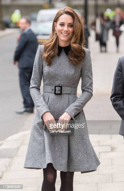 Catherine Duchess Of Cambridge visits The Foundling Museum on March 19 2019 in London England to understand how they use art to make a positive...