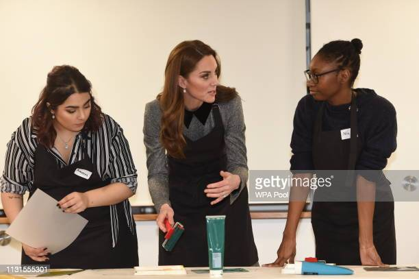 Catherine Duchess of Cambridge visits The Foundling Museum to understand how they use art to make a positive contribution to society by engaging with...