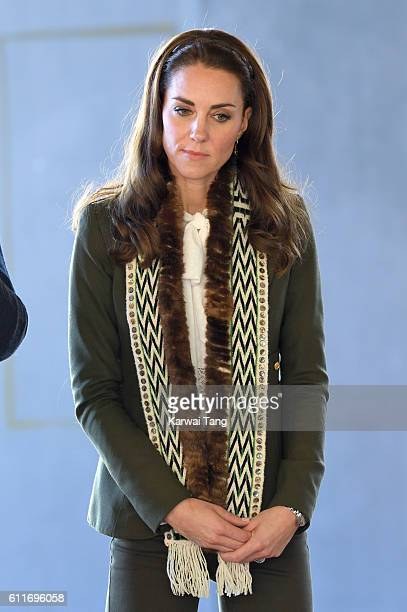 Catherine Duchess of Cambridge visits the Haida Heritage Centre and Museum on September 30 2016 in Haida Gwaii British Columbia Canada