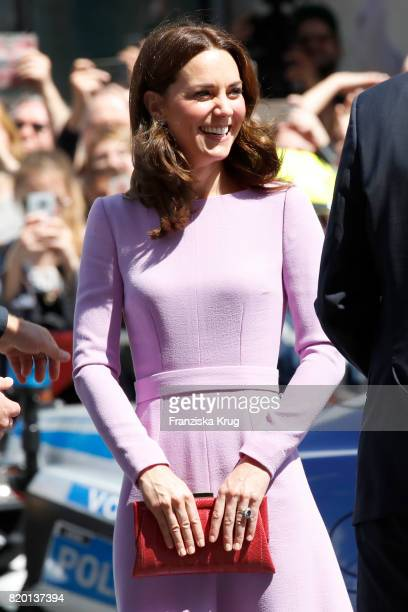 Catherine Duchess of Cambridge visits the Hamburg Elbphilharmonie during an official visit to Poland and Germany on July 21 2017 in Hamburg Germany
