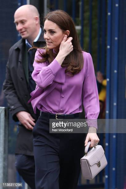 Catherine Duchess of Cambridge visits the Henry Fawcett Children's Centre in Kennington on March 12 2019 in London England