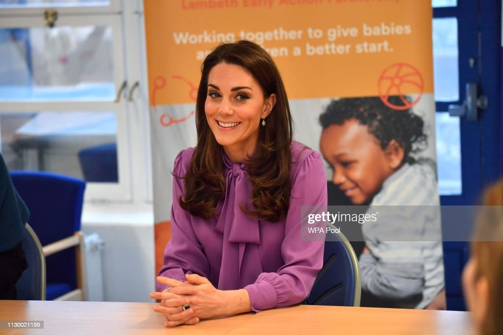 The Duchess Of Cambridge Visits The Henry Fawcett Children's Centre : News Photo