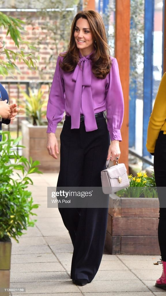 The Duchess Of Cambridge Visits The Henry Fawcett Children's Centre : News Photo