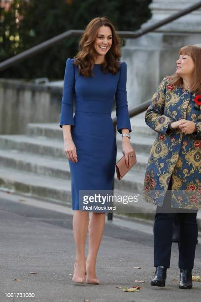 Catherine Duchess of Cambridge visits the Imperial War Museum on October 31 2018 in London England