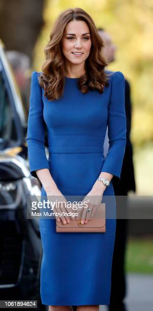 Catherine, Duchess of Cambridge visits the Imperial War Museum to view family letters from World War One on October 31, 2018 in London, England.