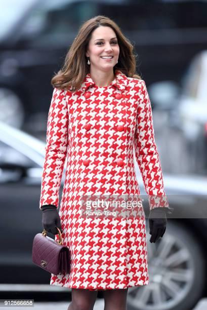 Catherine Duchess of Cambridge visits the Karolinska Institute on January 31 2018 in Stockholm Sweden