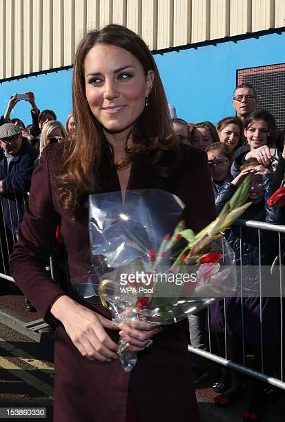 Catherine Duchess of Cambridge visits the Keyfund Office a charity that encourages young people to reach their full potential in life by investing in...