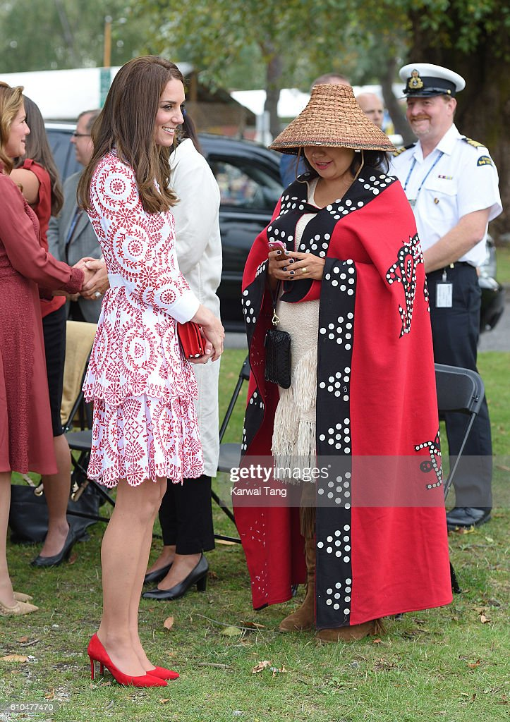 Catherine, Duchess of Cambridge visits the Kitsilano Coastguard Station in Vanier Park on September 25, 2016 in Vancouver, Canada.