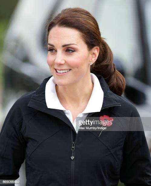 Catherine Duchess of Cambridge visits the Lawn Tennis Association at the National Tennis Centre on October 31 2017 in London England The Duchess of...