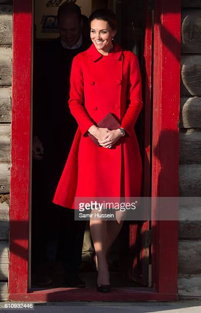 Catherine, Duchess of Cambridge visits the MacBride Museum on September 28, 2016 in Whitehorse, Canada.