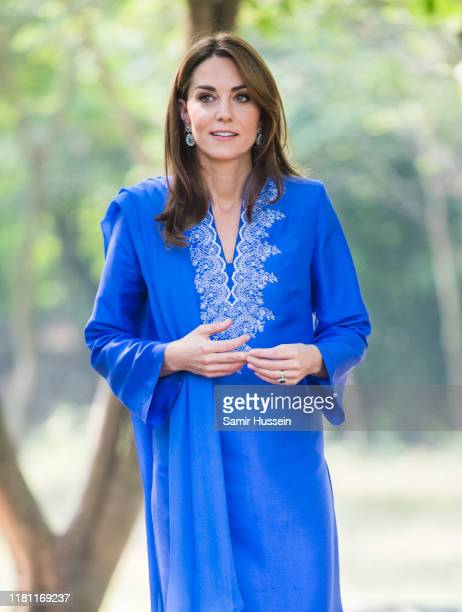 Catherine Duchess of Cambridge visits the Margalla Hills National Park which sit in the foothills of the Himalayas to join children from three local...