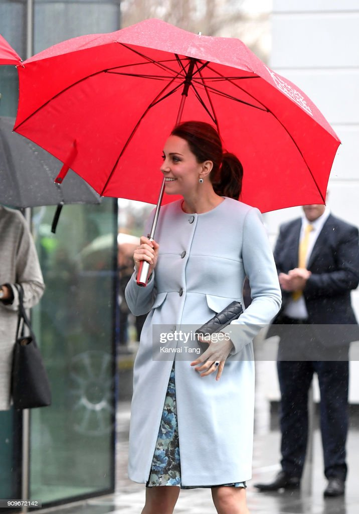 The Duchess Of Cambridge Visits Kings College London : News Photo