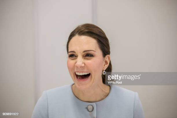 Catherine Duchess of Cambridge visits The Maurice Wohl Clinical Neuroscience Institute at the Institute of Psychiatry Psychology Neuroscience at...