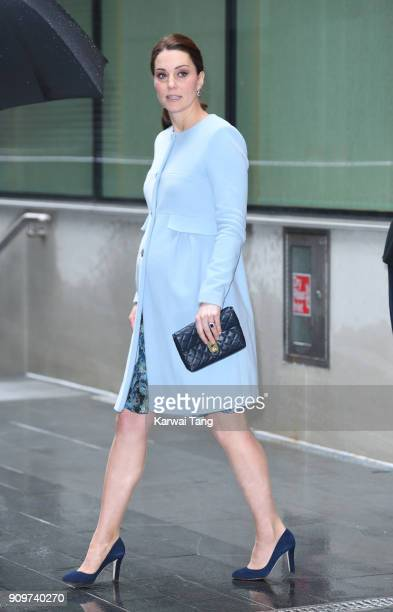 Catherine Duchess of Cambridge visits the Maurice Wohl Clinical Neuroscience Institute at Kings College on January 24 2018 in London England