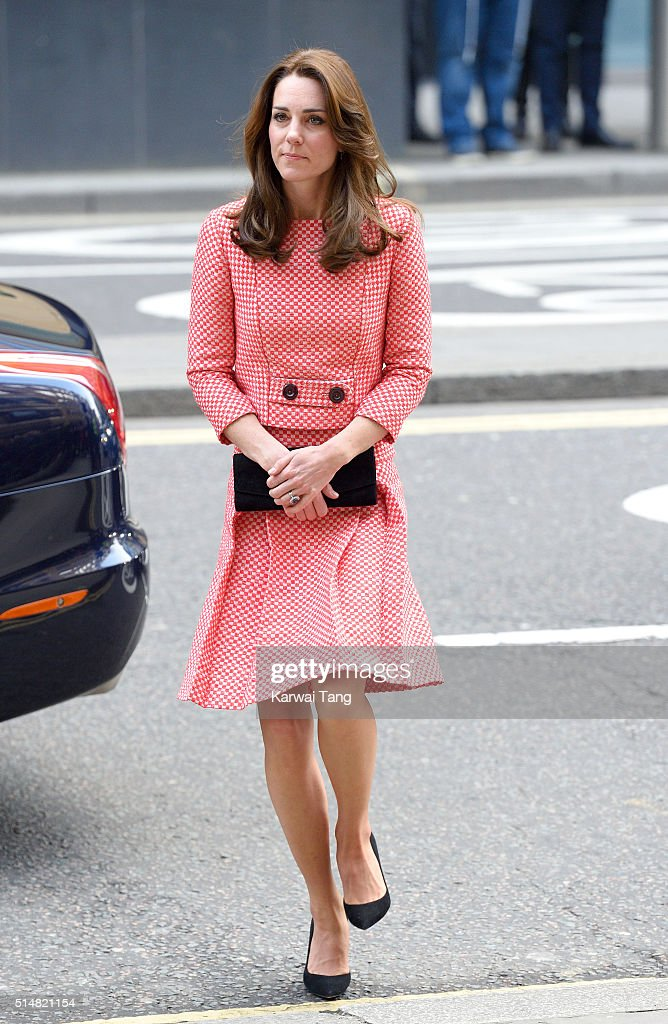 Catherine, Duchess of Cambridge visits the mentoring programme of the XLP project at London Wall on March 11, 2016 in London, England. XLP supports young people who are facing emotional, behavioural and relational challenges.