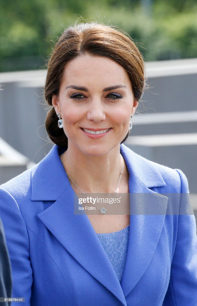 Catherine Duchess of Cambridge visits the Monument to the Murdered Jews of Europe, also known as the Holocaust Memorial, on the first day of their visit to Germany on July 19, 2017 in Berlin, Germany. The royal couple are on a three-day trip to Germany that includes visits to Berlin, Hamburg and Heidelberg.