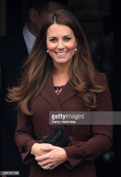 Catherine Duchess of Cambridge visits the National Fishing Heritage Centre during her official visit to Grimsby on March 5 2013 in Grimsby England