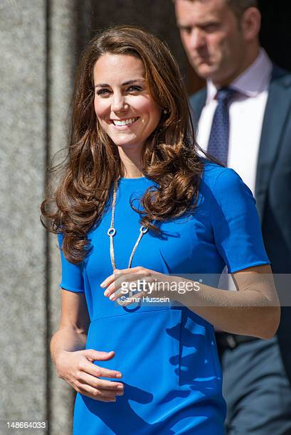 Catherine Duchess of Cambridge visits The National Portait Gallery's 'Road to 2012 Aiming High Exhibition' on July 19 2012 in London England