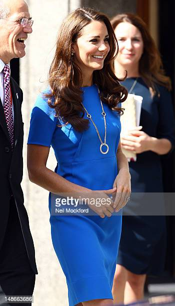 Catherine Duchess of Cambridge visits The National Portrait Gallery on July 19 2012 in London England
