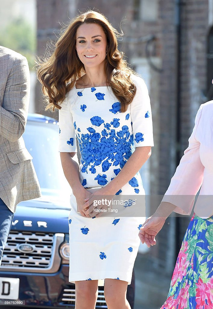 Catherine, Duchess of Cambridge visits the national youth charity Youthscape at Bute Mills on August 24, 2016 in Luton, England.