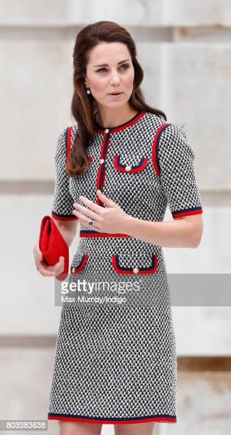 Catherine Duchess of Cambridge visits the new VA Exhibition Road Quarter at the Victoria Albert Museum on June 29 2017 in London England The VA...