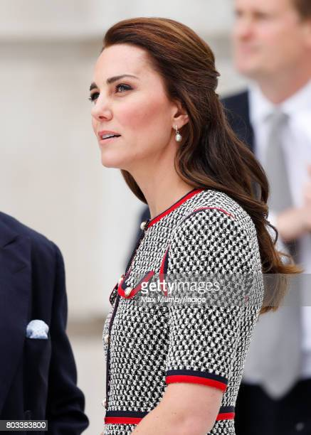 Catherine, Duchess of Cambridge visits the new V&A Exhibition Road Quarter at the Victoria & Albert Museum on June 29, 2017 in London, England. The...