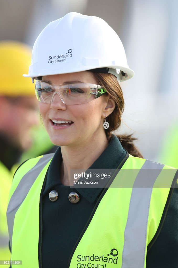 The Duke And Duchess of Cambridge Visit Sunderland : News Photo