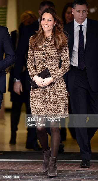 Catherine Duchess of Cambridge visits the Only Connect and exoffenders projects on November 19 2013 in London England