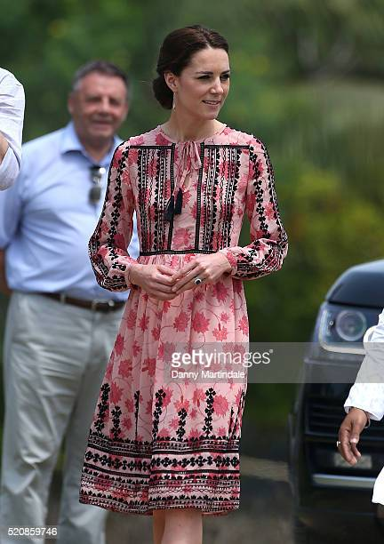 Catherine, Duchess of Cambridge visits the Pan Bari agricultural village in Kaziranga National Park on day 4 of the royal visit to India and Bhutan...