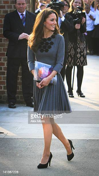 Catherine Duchess Of Cambridge visits The Prince's Foundation For Children And The Arts at Dulwich Picture Gallery on March 15 2012 in London England