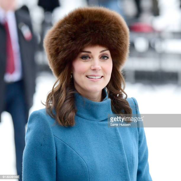 Catherine Duchess of Cambridge visits the Princess Ingrid Alexandra Sculpture Park on day 3 of the Duke and Duchess of Cambridge's visit to Sweden...