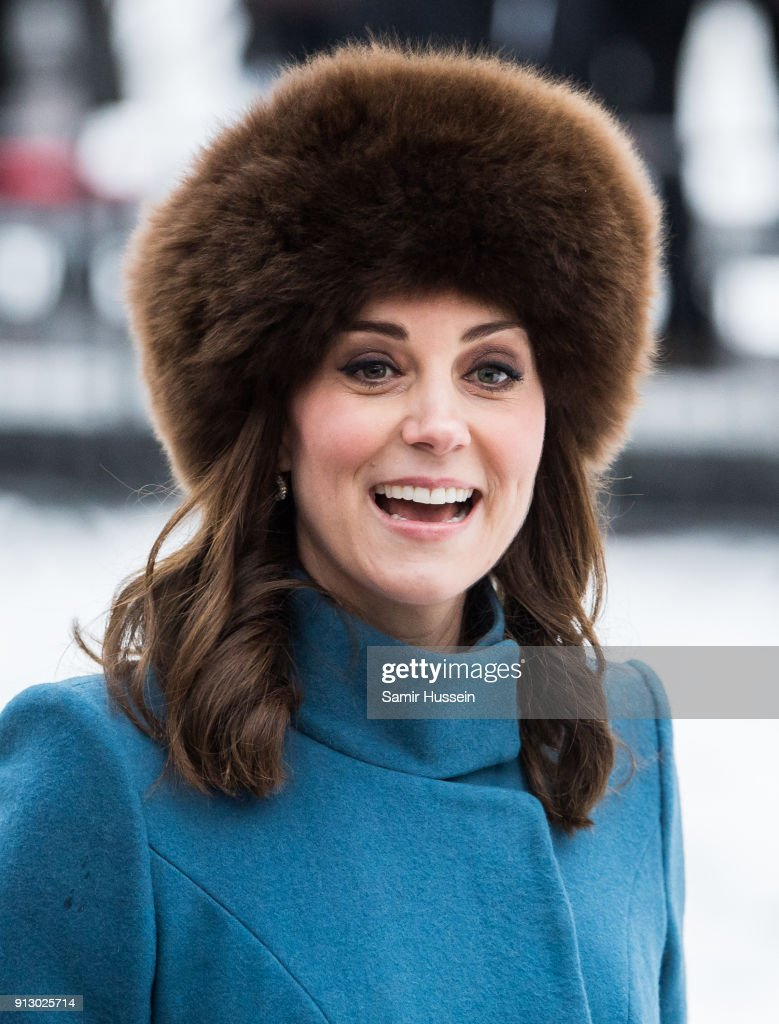 Catherine, Duchess of Cambridge visits the Princess Ingrid Alexandra Sculpture Park on day 3 of the Duke and Duchess of Cambridge's visit to Sweden and Norway on February 1, 2018 in Oslo, Norway. The Princess Ingrid Alexandra Sculpture Park opened last year in the name of Princess Ingrid Alexandra to mark the 25th anniversary of The King's reign.