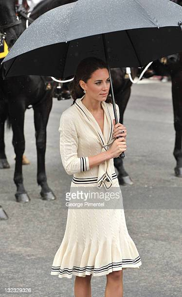 Catherine Duchess of Cambridge visits the Province House on July 4 2011 in Charlottetown Canada