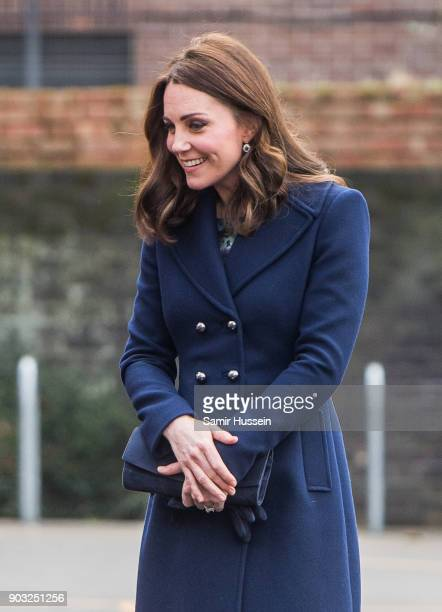 Catherine Duchess of Cambridge visits the Reach Academy with Place2Be on January 10 2018 in London England The Duchess of Cambridge has been patron...